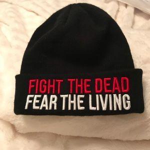 Unisex Walking Dead Black Beanie